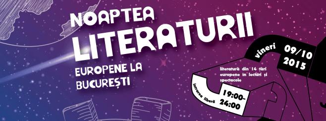 European Literature Night 2015 by EUNIC Bucharest, 9 october